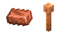 Minecraft Lightning Rod and Copper Ingot Curseur