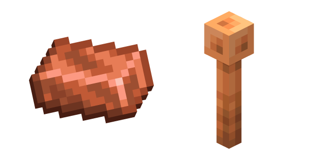 Minecraft Lightning Rod and Copper Ingot