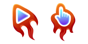 Red Fiery Cursor