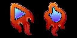 Red Fiery Curseur
