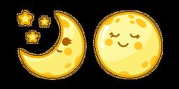 Cute Moon Curseur
