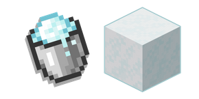 Minecraft Powder Snow and Bucket Cursor
