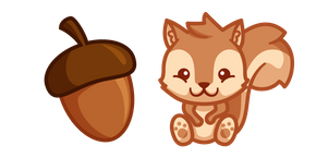 Cute Squirrel and Acorn Cursor