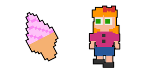 Five Nights at Freddy's Elizabeth Afton and Ice Cream Cursor