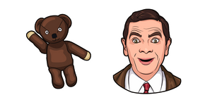 Mr. Bean and Teddy Bear Cursor