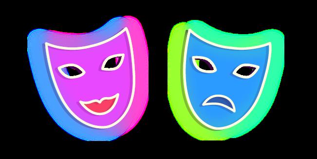Neon Theatre Masks