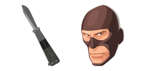 Team Fortress 2 Spy and Knife Curseur
