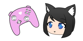 Gacha Life Moe and Cute Controller Cursor