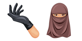 Niqab and Black Glove Cursor