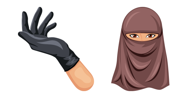 Niqab and Black Glove