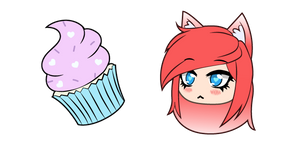 Gacha Life FlashyKlau and Cupcake Cursor