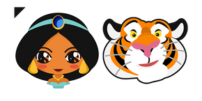 Aladdin Jasmine Princess and Rajah Curseur