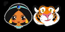Aladdin Jasmine Princess and Rajah Curseur