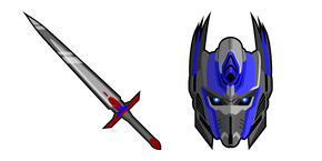 Transformers Optimus Prime and Sword Cursor