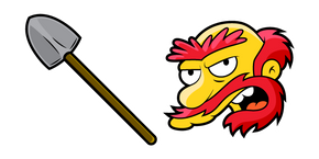 The Simpsons Groundskeeper Willie and Shovel Cursor