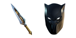 Fortnite Black Panther and Vibranium Daggers Cursor