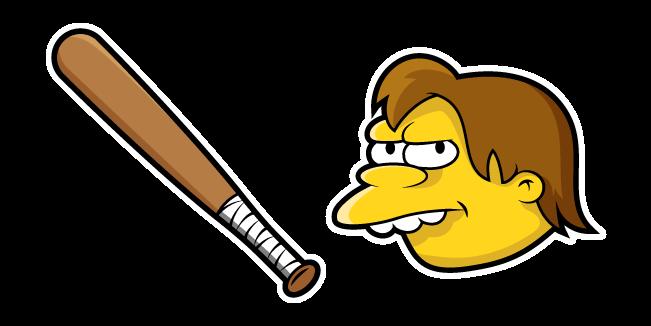 The Simpsons Nelson Muntz and Bat