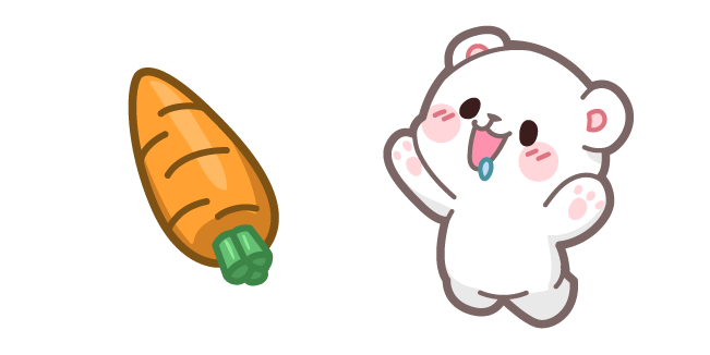 Cute Milk Bear and Carrot
