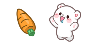 Cute Milk Bear and Carrot Cursor
