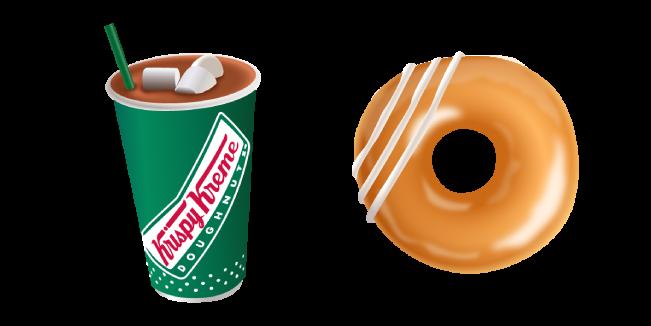 Krispy Kreme Cocoa and Glazed Donut