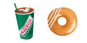 Krispy Kreme Cocoa and Glazed Donut Curseur