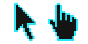 Bright Turquoise Pixel Cursor