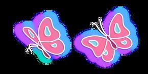 Neon Butterfly Curseur