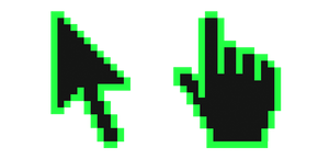 Screamin Green Pixel Cursor