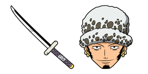 One Piece Trafalgar Law and Sword Cursor