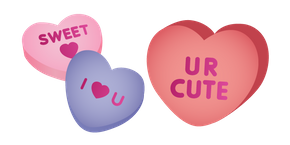 Conversation Hearts Candy Curseur