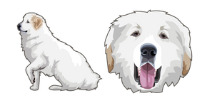 Great Pyrenees Dog Cursor