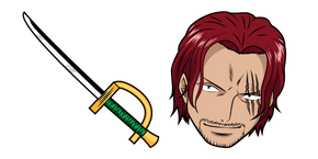 One Piece Shanks and Sword Cursor