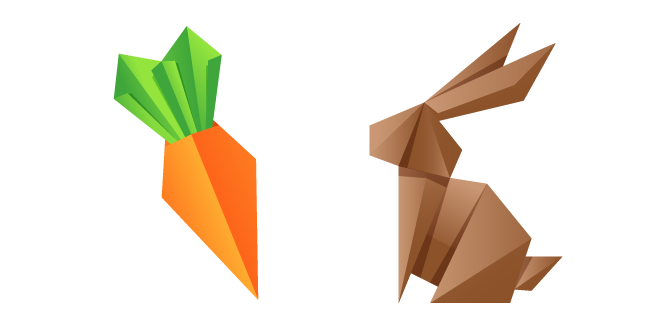 Origami Rabbit and Carrot
