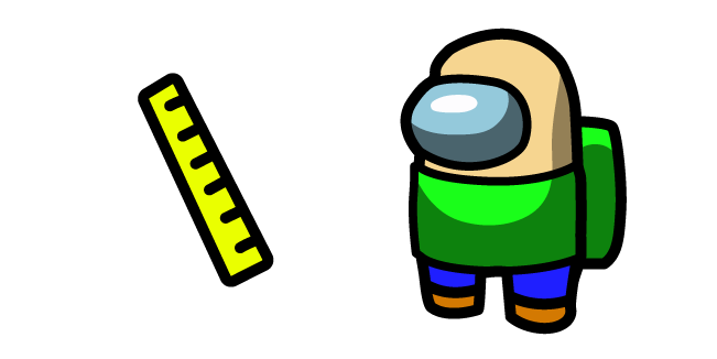 Among Us Baldi Outfit and Ruler