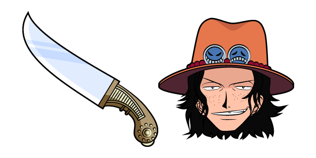 One Piece Portgas D. Ace and Knife