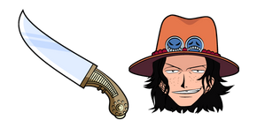 One Piece Portgas D. Ace and Knife Curseur