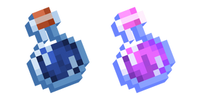 Minecraft Water Bottle and Potion of Regeneration Cursor