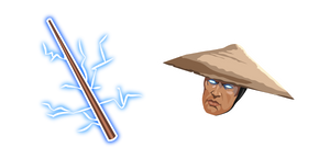 Mortal Kombat Raiden and Staff Cursor