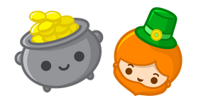 Saint Patrick's Day Leprechaun and Pot of Gold Cursor