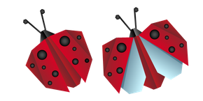 Origami Ladybug Cursor