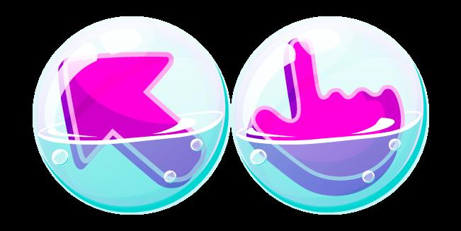Purple Cursor in Soap Bubble