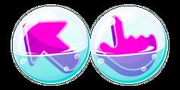 Purple Cursor in Soap Bubble Cursor