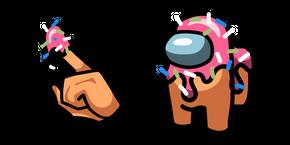 Курсор Among Us Donut Character