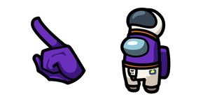 Among Us Purple Character in Astronaut Outfit Cursor