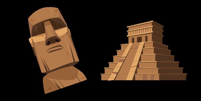 Mayan Pyramid and Moai