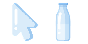 Minimal Glass Milk Bottle Cursor