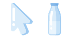 Minimal Glass Milk Bottle