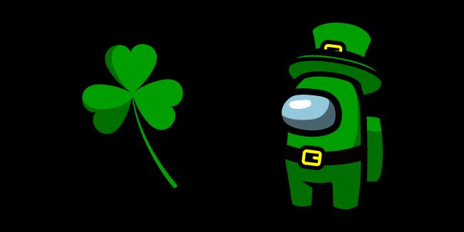 Among Us Leprechaun Character and Clover