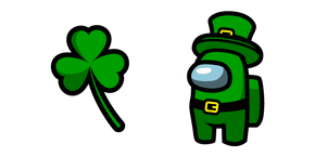 Among Us Leprechaun Character and Clover Cursor