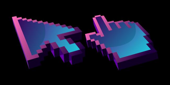 3D Dark Blue Abstract